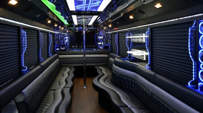 San Rafael 28 passenger party bus
